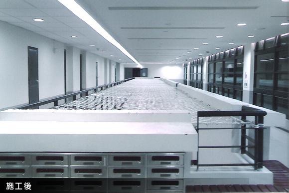 台南科學園區宿舍中庭-樓梯安全網工程